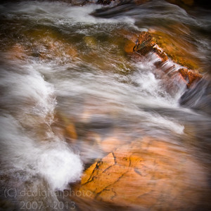 Rocks in a flowing river