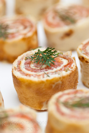 Smoked Salmon Roulade - low angle